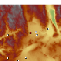 Nearby Forecast Locations - Inyokern - Χάρτης