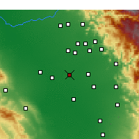 Nearby Forecast Locations - Hanford - Χάρτης