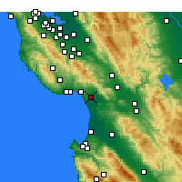 Nearby Forecast Locations - Watsonville - Χάρτης