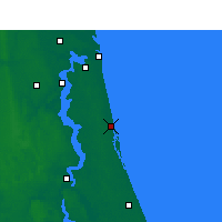 Nearby Forecast Locations - St Augustine - Χάρτης