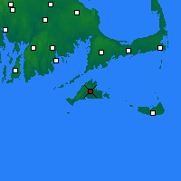 Nearby Forecast Locations - Martha's Vineyard - Χάρτης