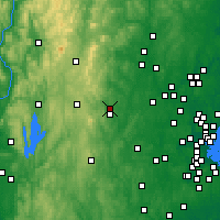 Nearby Forecast Locations - Fitchburg - Χάρτης