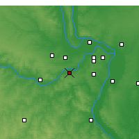 Nearby Forecast Locations - Chesterfield - Χάρτης