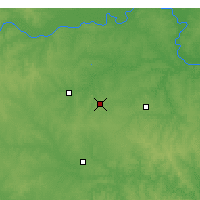 Nearby Forecast Locations - Warrensburg - Χάρτης