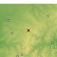 Nearby Forecast Locations - Monett - Χάρτης