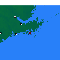 Nearby Forecast Locations - Beaufort - Χάρτης