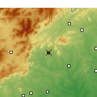 Nearby Forecast Locations - Rutherfordton - Χάρτης