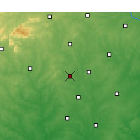 Nearby Forecast Locations - Gastonia - Χάρτης