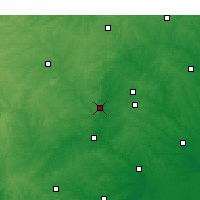 Nearby Forecast Locations - Chapel Hill - Χάρτης