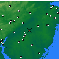 Nearby Forecast Locations - Mount Holly - Χάρτης
