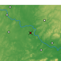 Nearby Forecast Locations - Muskogee - Χάρτης