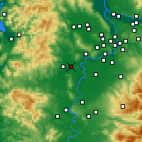Nearby Forecast Locations - McMinnville - Χάρτης