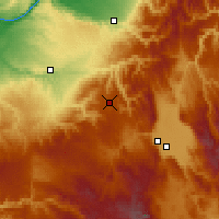 Nearby Forecast Locations - Meacham - Χάρτης