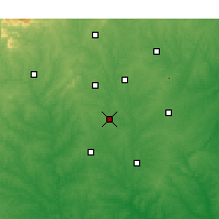 Nearby Forecast Locations - Rock Hill - Χάρτης