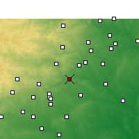 Nearby Forecast Locations - New Braunfels - Χάρτης