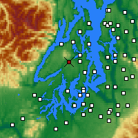 Nearby Forecast Locations - Bremerton - Χάρτης