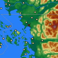 Nearby Forecast Locations - Bellingham - Χάρτης