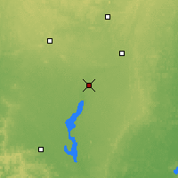 Nearby Forecast Locations - Wisconsin Rapids - Χάρτης
