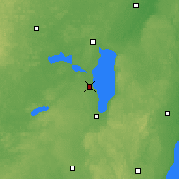 Nearby Forecast Locations - Oshkosh - Χάρτης
