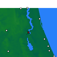 Nearby Forecast Locations - Palatka - Χάρτης