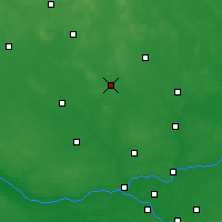 Nearby Forecast Locations - Ciechanów - Χάρτης