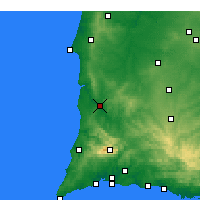 Nearby Forecast Locations - Odemira - Χάρτης