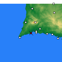 Nearby Forecast Locations - Lagos - Χάρτης