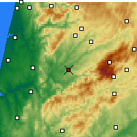 Nearby Forecast Locations - Tábua - Χάρτης