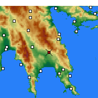 Nearby Forecast Locations - Γεράκι Λακωνίας - Χάρτης