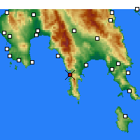 Nearby Forecast Locations - Αρεόπολη Λακωνίας - Χάρτης