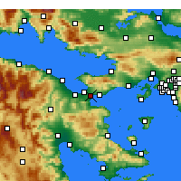 Nearby Forecast Locations - Isthmia - Χάρτης