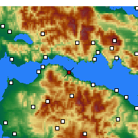 Nearby Forecast Locations - Αίγιο - Χάρτης