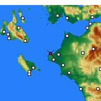 Nearby Forecast Locations - Killini - Χάρτης