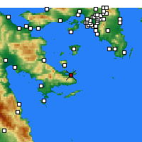 Nearby Forecast Locations - Πόρος - Χάρτης