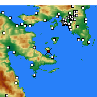 Nearby Forecast Locations - Μέθανα - Χάρτης