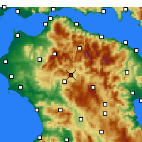 Nearby Forecast Locations - Δάφνη Αχαΐας - Χάρτης