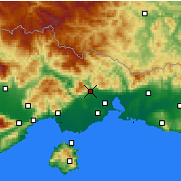 Nearby Forecast Locations - Ξάνθη - Χάρτης