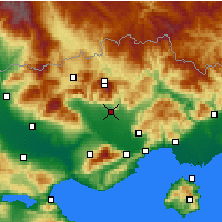 Nearby Forecast Locations - Δράμα - Χάρτης