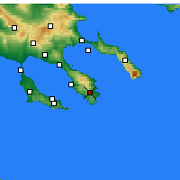 Nearby Forecast Locations - Συκιές Χαλκιδικής - Χάρτης