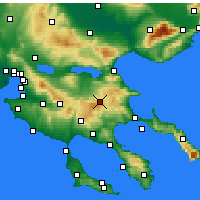 Nearby Forecast Locations - Αρναία - Χάρτης