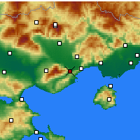 Nearby Forecast Locations - Ελευθερούπολη - Χάρτης