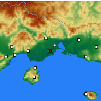 Nearby Forecast Locations - Άβδηρα - Χάρτης
