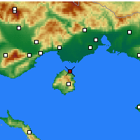 Nearby Forecast Locations - Θάσος - Χάρτης