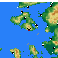Nearby Forecast Locations - Πλωμάρι - Χάρτης