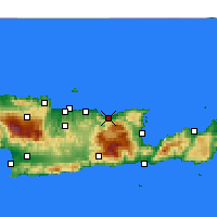 Nearby Forecast Locations - Μάλια - Χάρτης