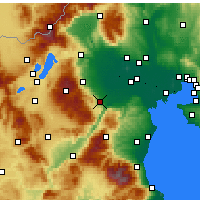 Nearby Forecast Locations - Βέροια - Χάρτης