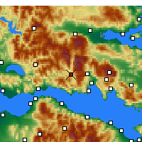 Nearby Forecast Locations - Λιδωρίκι Φωκίδας - Χάρτης