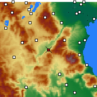 Nearby Forecast Locations - Σέρβια - Χάρτης