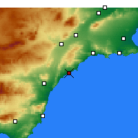 Nearby Forecast Locations - Águilas - Χάρτης