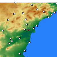 Nearby Forecast Locations - Έλτσε - Χάρτης